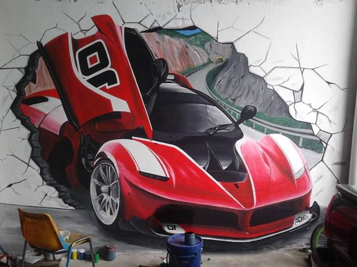 Mural Realista 3D.