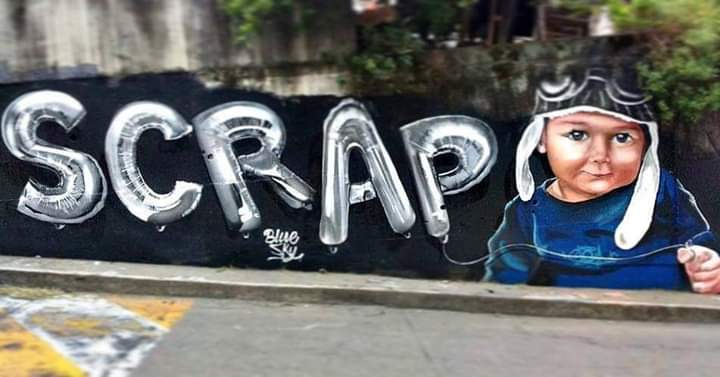 Graffiti elaborado por Cloud junto a Scrap.
