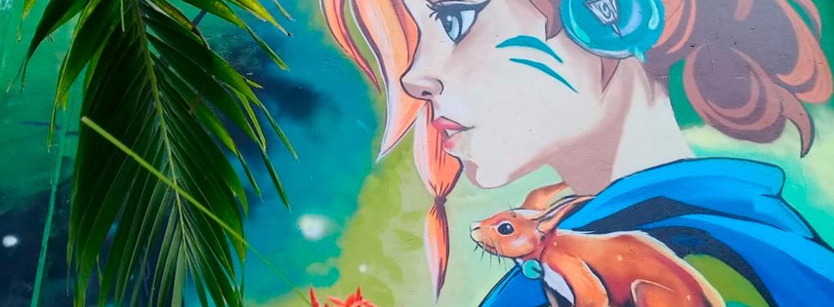 Graffiti anime fundación Fambaru