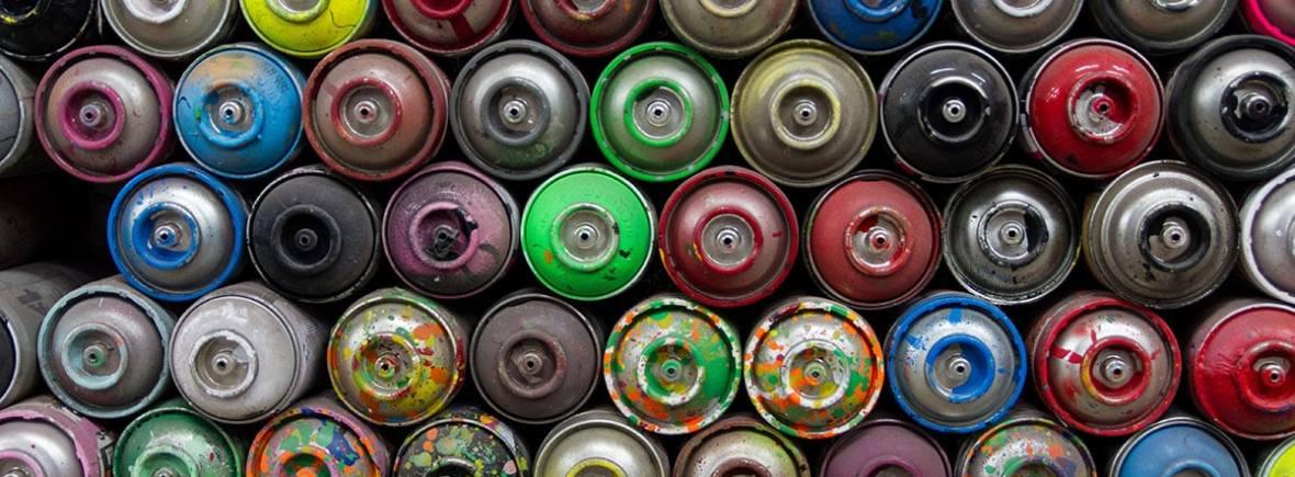 Tarros de aerosol graffiti